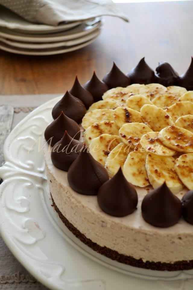 Cheesecake alla banana