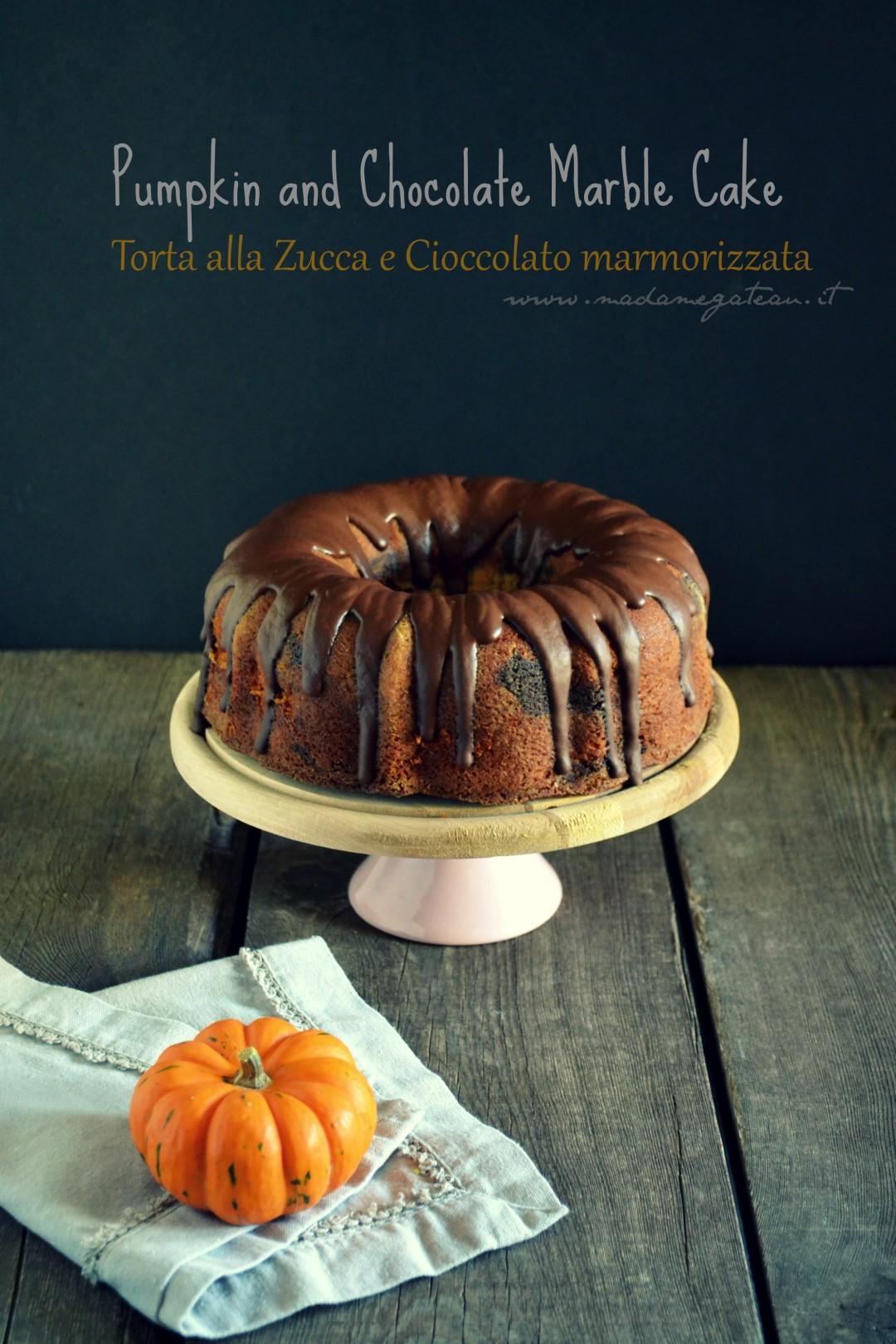 Torta Alla Zucca E Cioccolato Marmorizzata